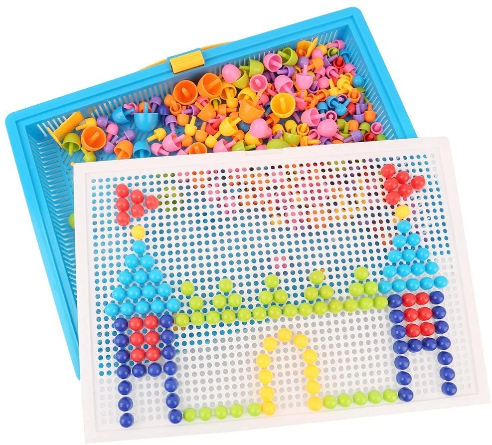 Puzzle Pegboard for Kids   Invegora